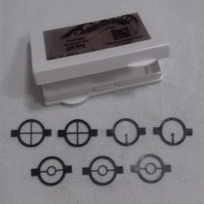 Foresight element set  with 7 units in 3 models - Reticle [2], Center Ring [3], Dot [2]
